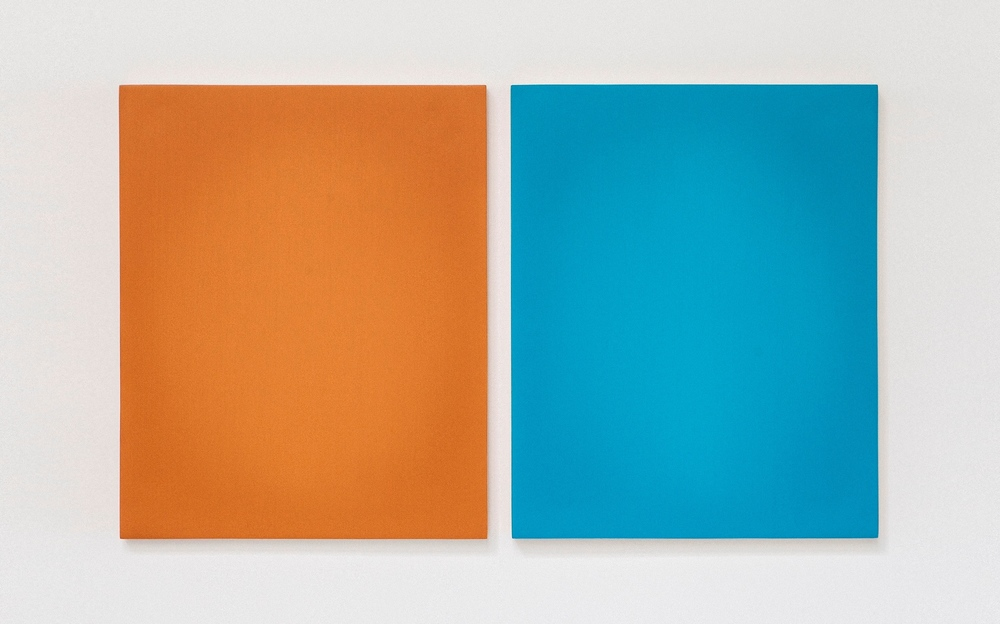 Untitled, 2013, Oil on Two Boards, 37.5cm x 63cm (with split)