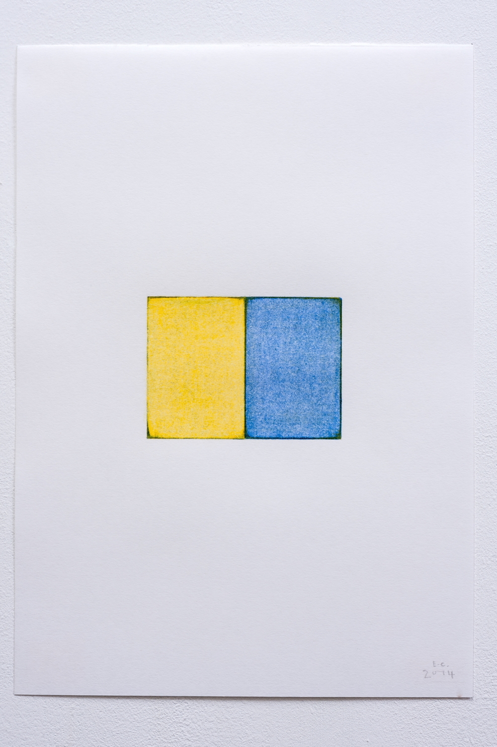 Untitled, 2014, Coloured Pencil on Paper, 28cm x 19.5cm(paper size)