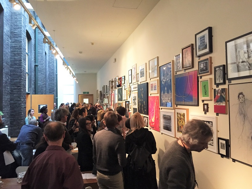 Everything and everyone comes together for the private view of VAMALGAM 7, photograph by May Teixeira
