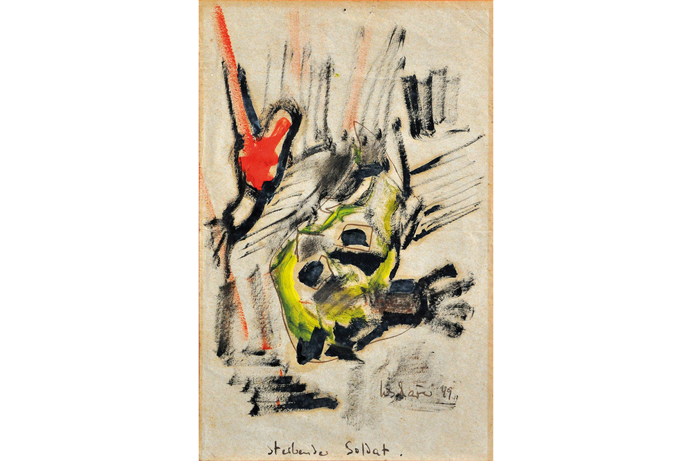 Sterbender Soldat, 1949