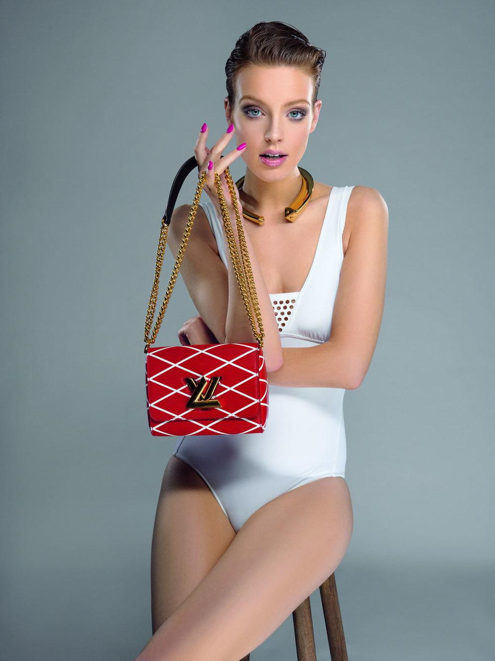 Maillot de bain Eres Collier Trunk Louis Vuitton Sac Twist Malletage Rouge/Blanc Louis Vuitton