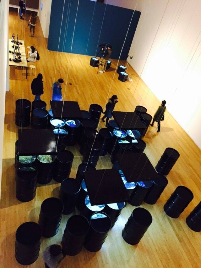 """Geography=War""  installation view    Pohang City Museum of  Art, 2015"