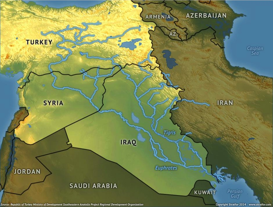 TIGRIS-EUPHRATES BASIN   Source: Republic of Turkey Ministry of Development Southeastern Anatolia Projection Regional Development Organization. Photo source and copyright Stratfor 2014 |   www.stratfor.com