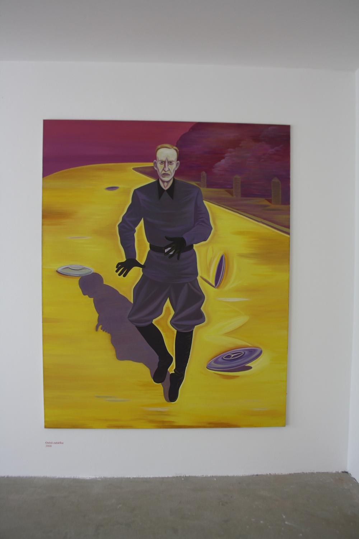 1. Tomáš Císařovský   Ostrá zatáčka   2008, olej, plátno   200 x 160 cm