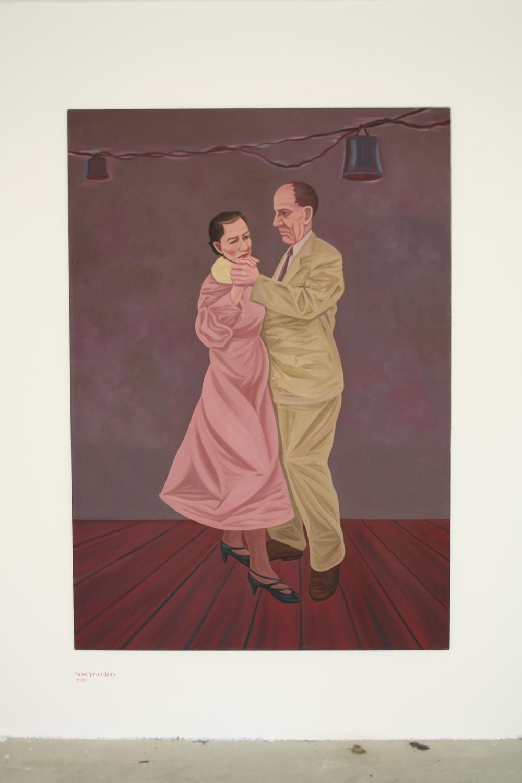 2. Tomáš Císařovský   Tanec první dámy   2007, olej, plátno   200 x 140 cm