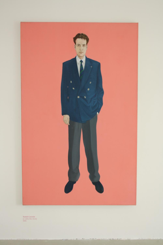 3. Tomáš Císařovský   Tomáš Czernin (z cyklu Bez koní)   1996, olej, plátno   190 x 120 cm