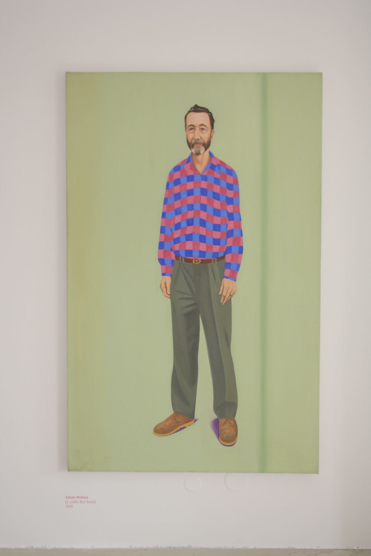 4. Tomáš Císařovský   Adam Bubna (z cyklu Bez koní)   1996, olej, plátno   190 x 120 cm