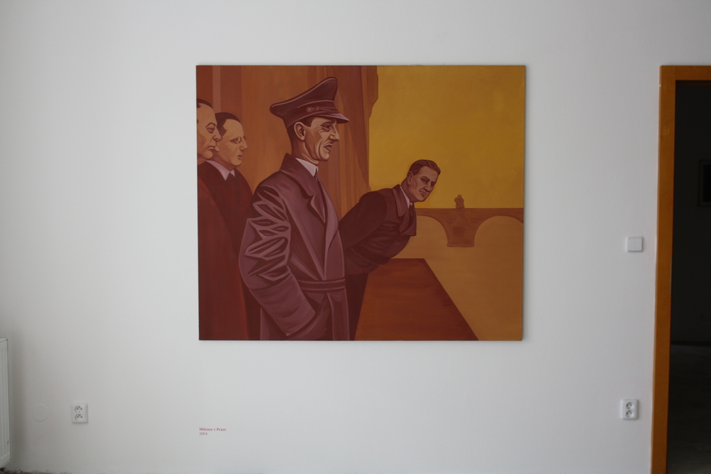 5. Tomáš Císařovský   Milenec v Praze   2004 olej, plátno   135 x 160 cm