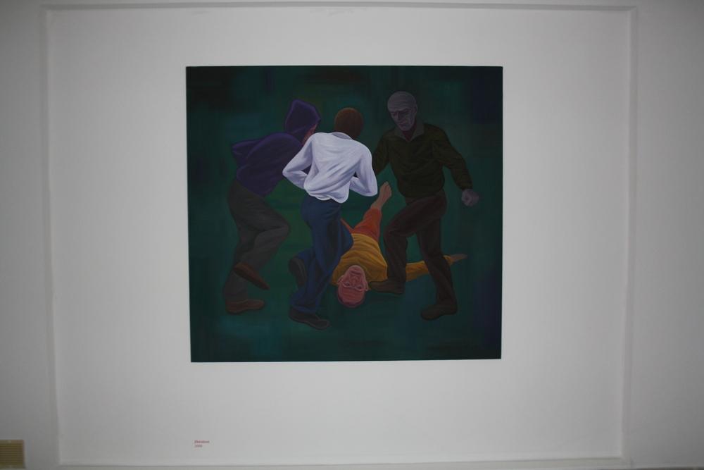 6. Tomáš Císařovský   Zběsilost   2008, olej, plátno   150 x 160 cm