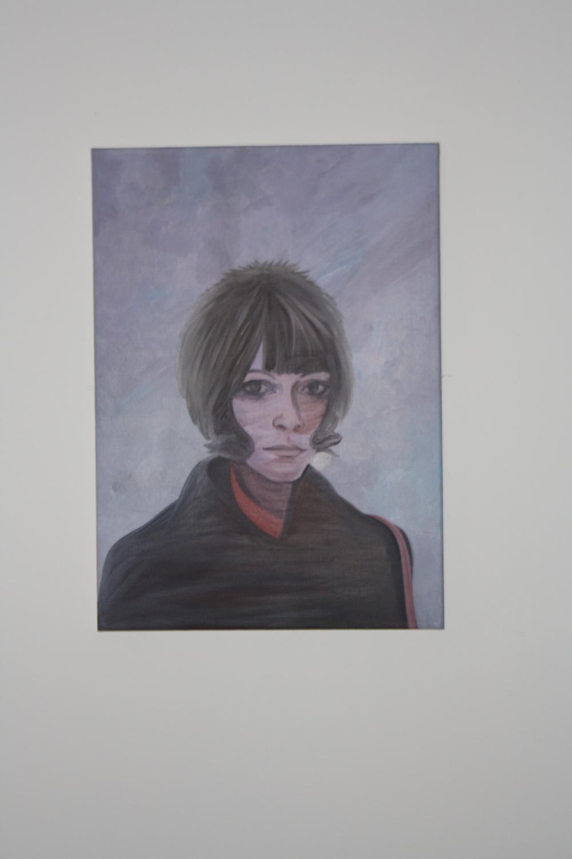 7. Tomáš Císařovský   Kouzelná čepice (z cyklu Promlčená doba)   2003, olej, plátno   70 x 50 cm