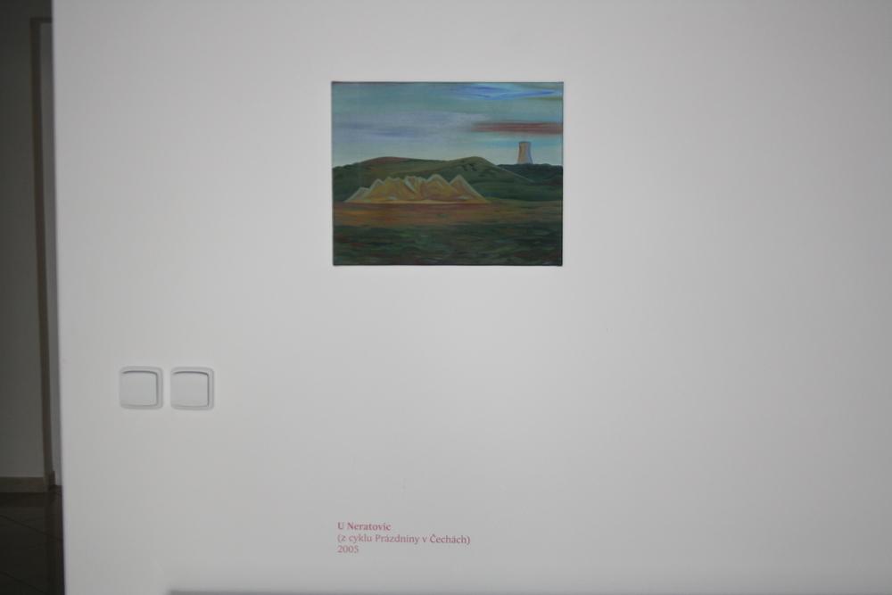 9. Tomáš Císařovský   U Neratovic (z cyklu Prázdniny v Čechách)   2005, olej, plátno   33 x 42 cm