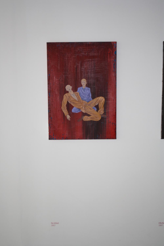 11. Tomáš Císařovský   Na klíně   2007, olej, plátno   85 x 60 cm