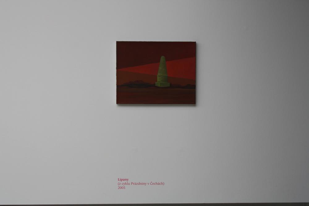 12. Tomáš Císařovský   Lipany (z cyklu Prázdniny v Čechách)   2005, olej, plátno, 33 x 42 cm