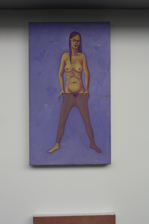 14.Tomáš Císařovský   Silonky   2009, olej, plátno   42 x 24 cm