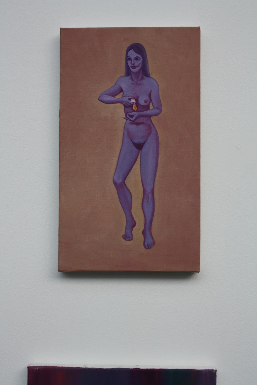 15. Tomáš Císařovský   Vejce   2009, olej, plátno   42 x 24 cm