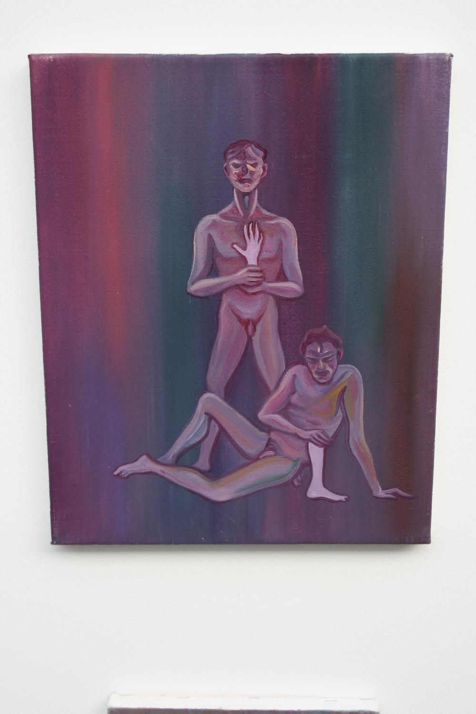 16. Tomáš Císařovský   Ruka, noha   2009, olej, plátno   40 x 32 cm