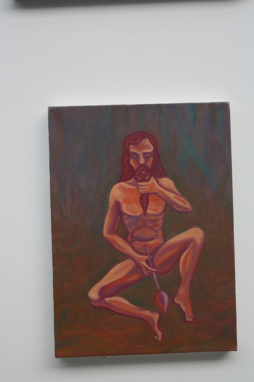 17. Tomáš Císařovský   Štětec   2012, olej, plátno   plátno, 33 x 24 cm