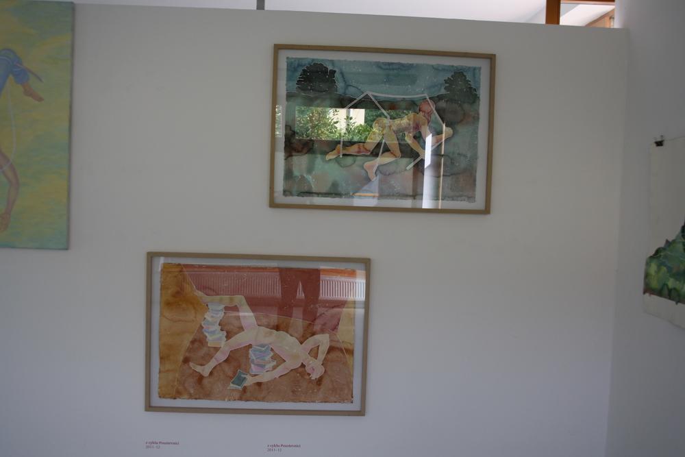 22. Tomáš Císařovský   z cyklu Poustevníci   2011-12, akvarel, papír   67 x 97 cm