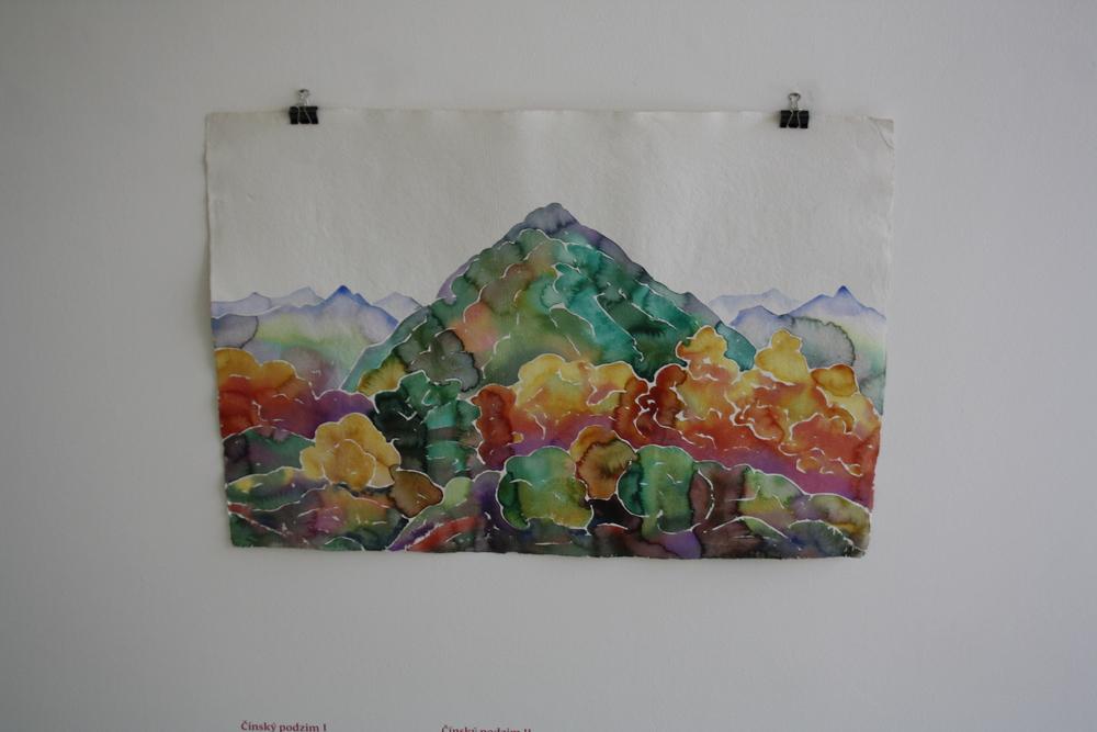 23. Tomáš Císařovský   Čínský podzim I   2012 akvarel, papír   72 x 102 cm