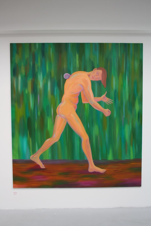 25. Tomáš Císařovský   Klíště   2010, olej, plátno   200 x 180 cm