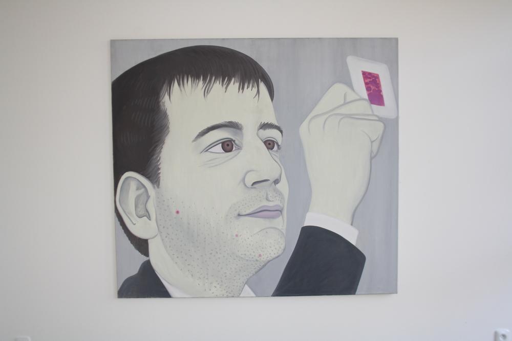26. Tomáš Císařovský   Galerista   1995 olej, plátno   145 x 160 cm