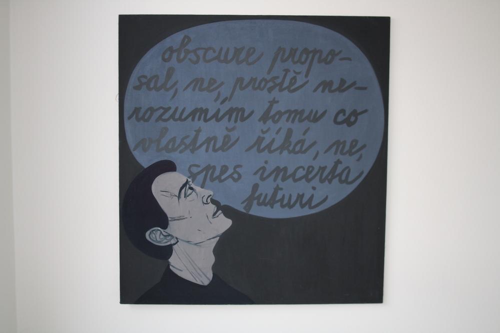 27. Tomáš Císařovský   Slova   1993, olej, plátno   135 x 120 cm