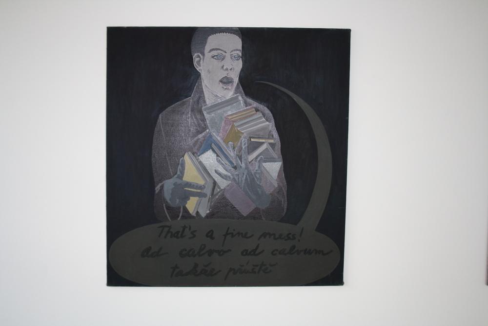 28. Tomáš Císařovský   O přestávce   1993, olej, plátno   135 x 125 cm