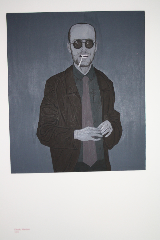 29. Tomáš Císařovský   Úkrok, Martine   1993, olej, plátno   140 x 115 cm