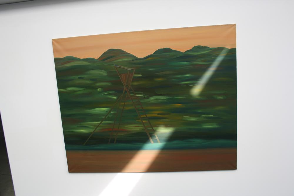 30. Tomáš Císařovský   Posez (z cyklu Prázdniny v Čechách)   2005, olej, plátno   120 x 150 cm