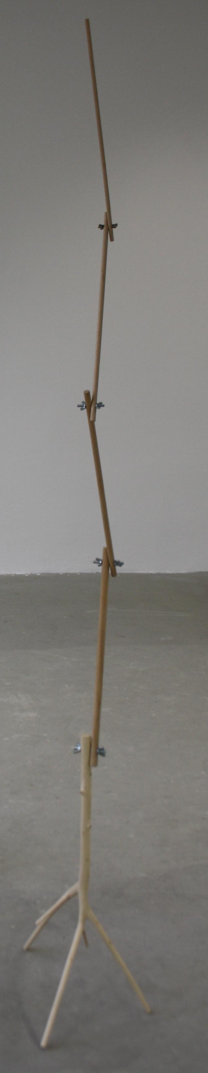 11. Tomáš Hlavina   Smysl   2001, dřevo, šrouby s křídlovými maticemi, 28 x 34 x 199 cm