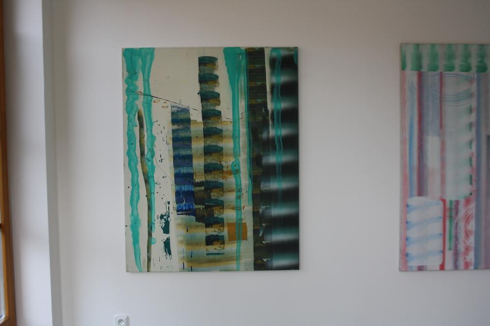 25. Petr Pastrňák   bez názvu   2007, akryl, plátno, 135 x 105 cm