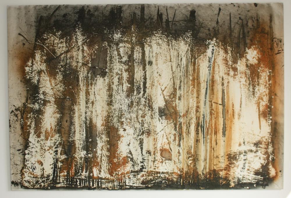 27. Petr Pastrňák   z cyklu Lesy   2009, akryl, plátno, 142 x 210 cm
