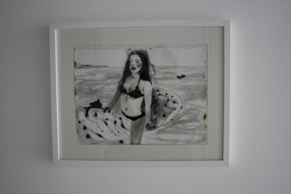 25. Katarina Janečková   bez názvu   2012 – 2013, akvarel na ručním papíře   58 x 43 cm