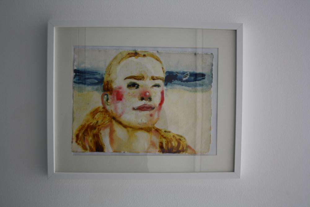 28. Katarina Janečková   bez názvu   2012 – 2013, akvarel na ručním papíře   58 x 43 cm