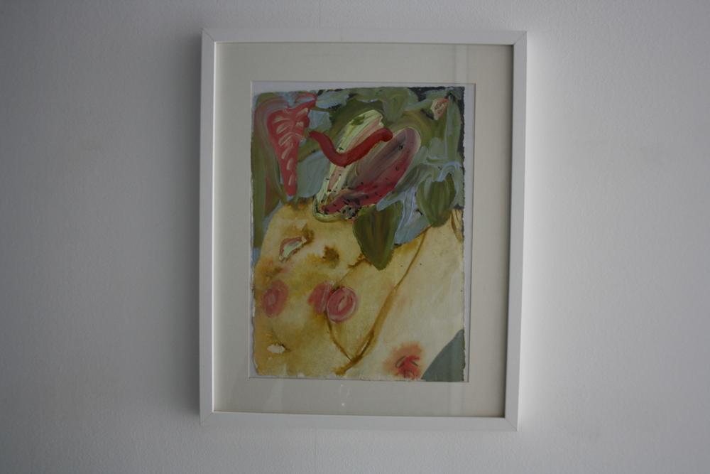 30. Katarina Janečková   bez názvu   2012 – 2013, akvarel na ručním papíře   43 x 58 cm