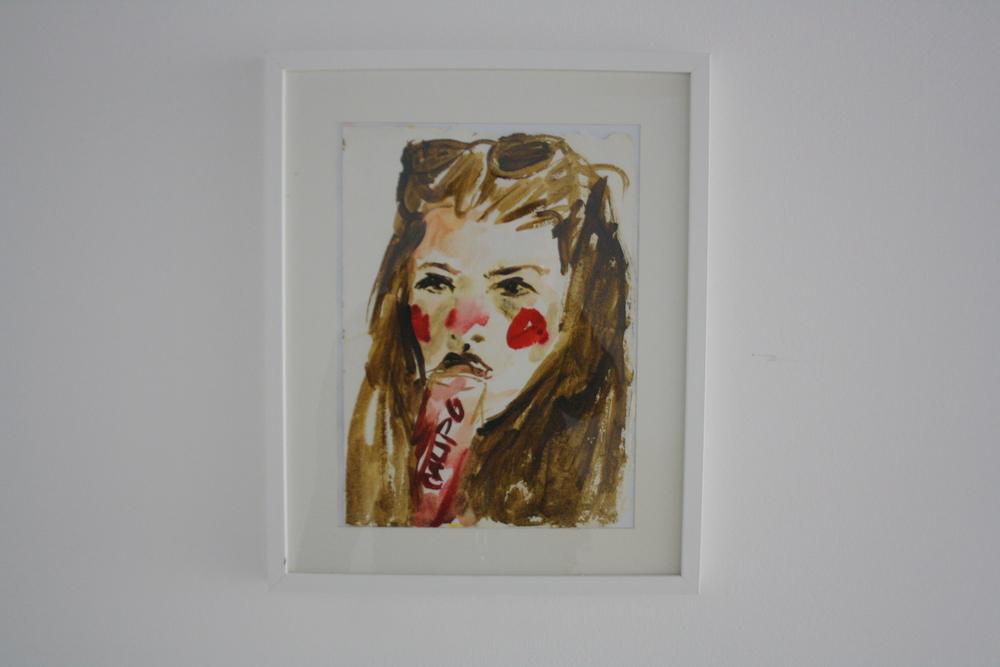 31. Katarina Janečková   bez názvu   2012 – 2013, akvarel na ručním papíře   43 x 58 cm