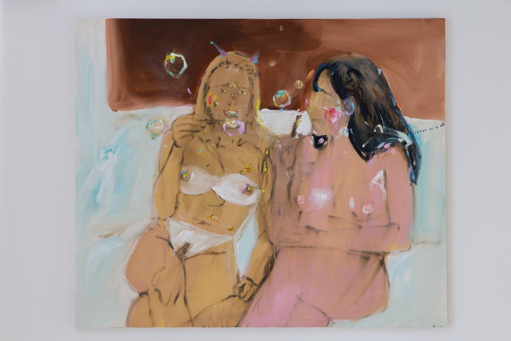 32. Katarina Janečková   Zuby mohou hodně změnit   2013, akryl na plátně   120 x 100 cm