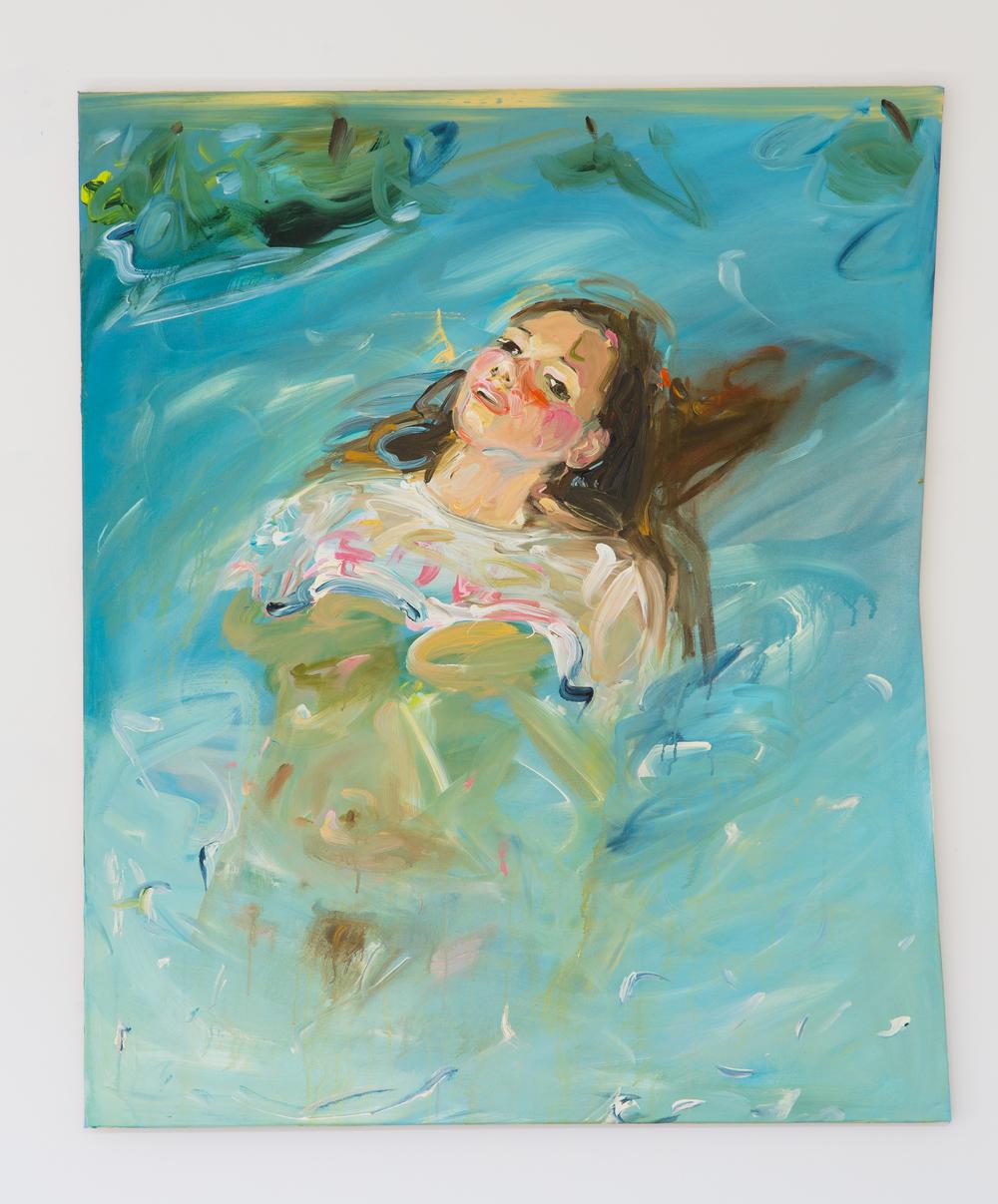 34. Katarina Janečková   Rusovláska, na hrudi láska   2013, akryl na plátně   120 x 100 cm