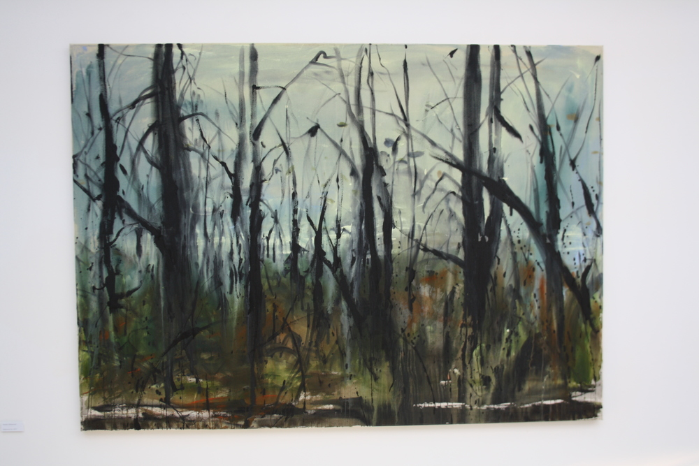 41. Andrej Dúbravský   Záplavový les   2013, akryl na plátně   180 x130 cm