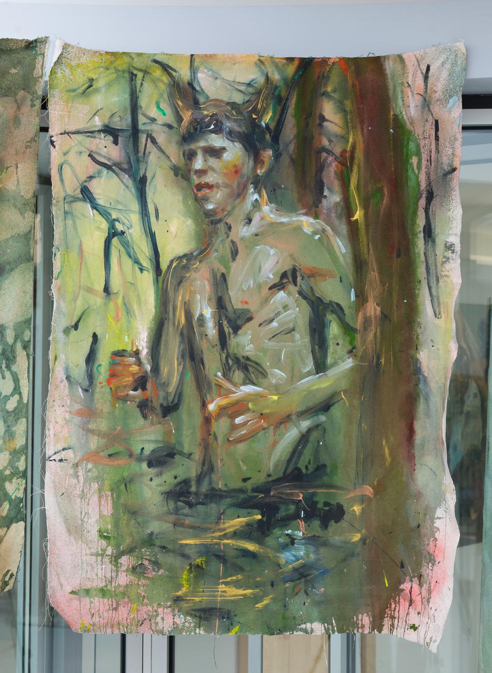 44. Andrej Dúbravský   močiar   2013, akryl na plátně   125 x 90 cm