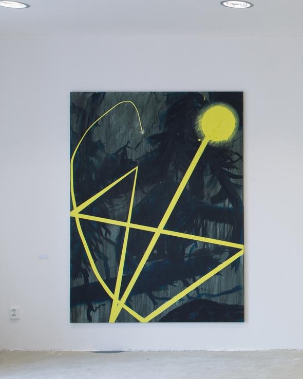 14. Václav Girsa   Blesk   2013, akryl na plátně   200 x 150 cm