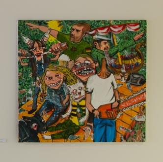 15. Luděk Rathouský   bez názvu   2008, akryl na plátně   105 x 105 cm