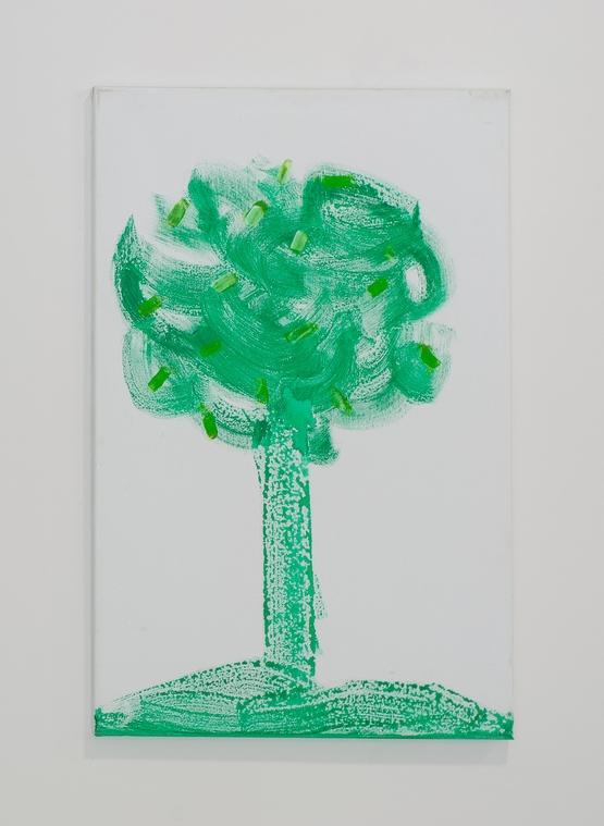 1. Václav Girsa   Strom   2010, akryl na plátně   70 x 45 cm