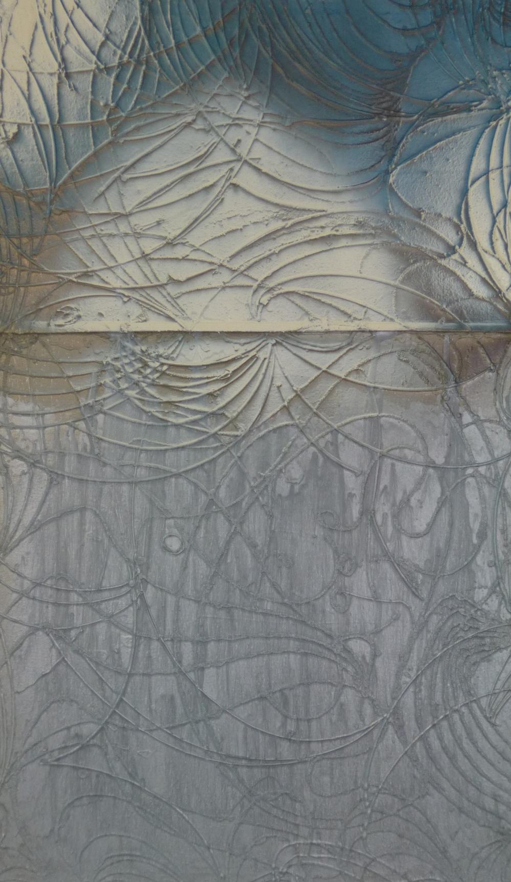 7.Neviditelné trajektorie, 2015, kombinovaná technika, 90 x 150
