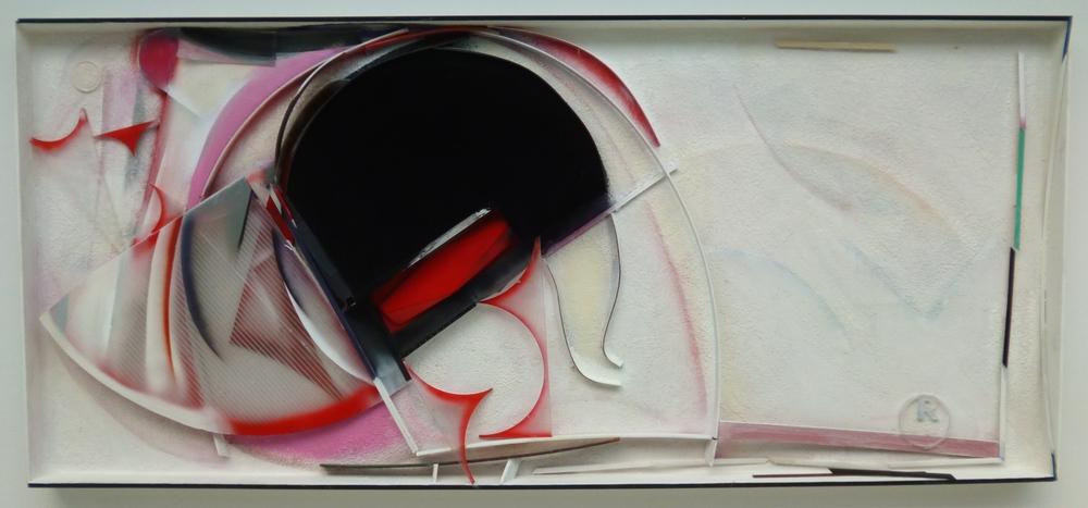 18.Toto není Magritte, 2011/14, kombinovaná technika, 304 x 134,5