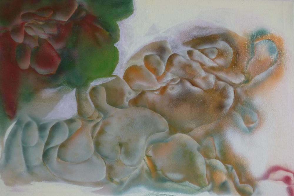 32.Květina z hlubokým vztahem, 2014, kom. technika, 151 x 100
