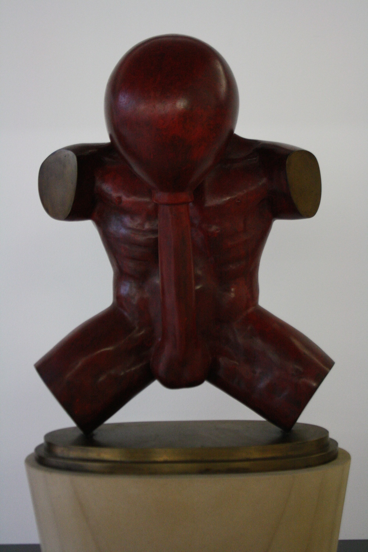 Stefan Milkov, Selfmademan, 2003, v. 60 cm, kov