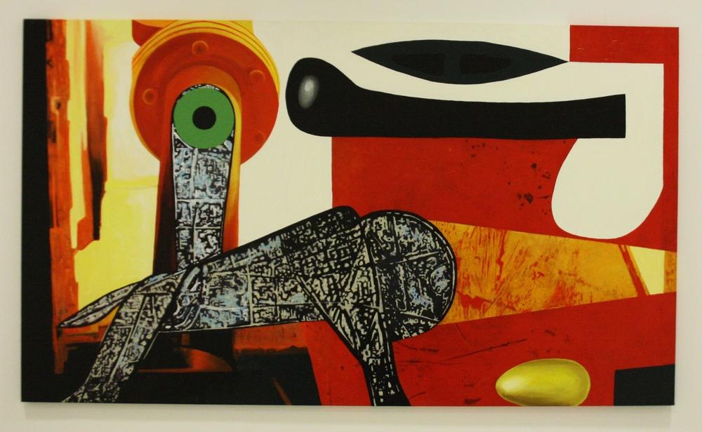 Stefan Milkov, Digitální zvíře, 2015, 172 x 100 cm, acr. na pl.
