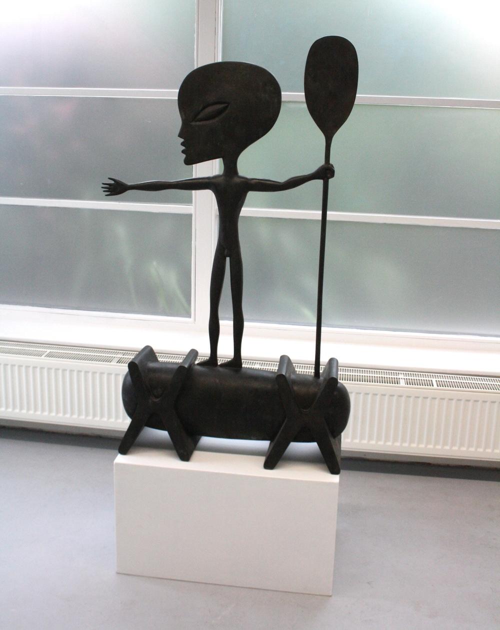 Jaroslav Róna, Africký plavec, 2011, 131 x 77 x 26,5 cm, bronz