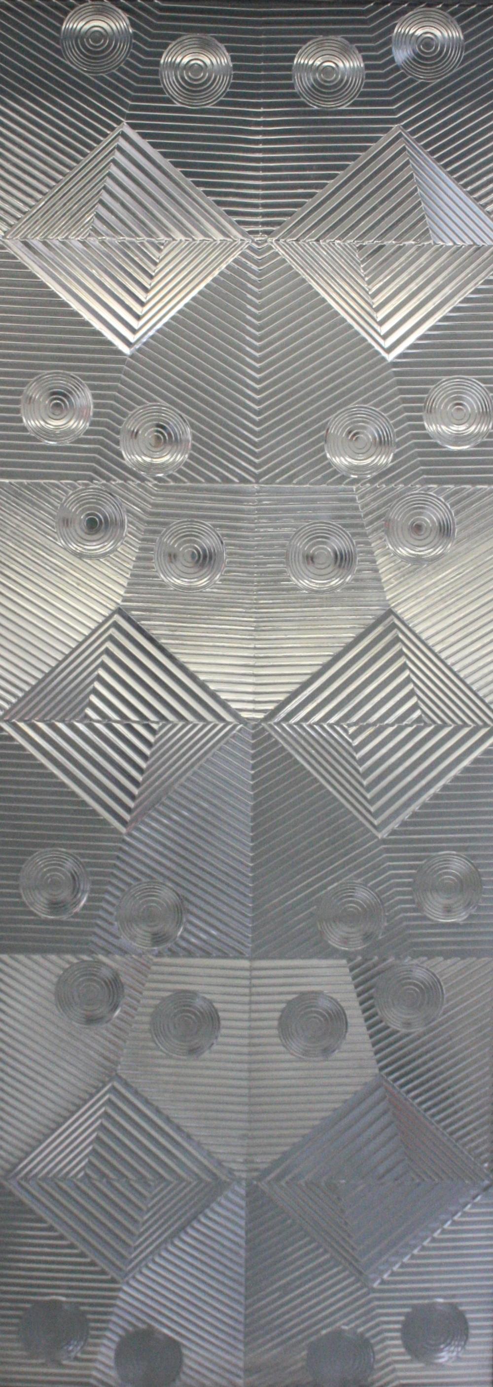 Zdeněk Lhotský, Reliéf 1, 2015, sklo, 74 x 200,5 cm